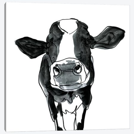 Cow Contour III Canvas Print #VBO416} by Victoria Borges Art Print