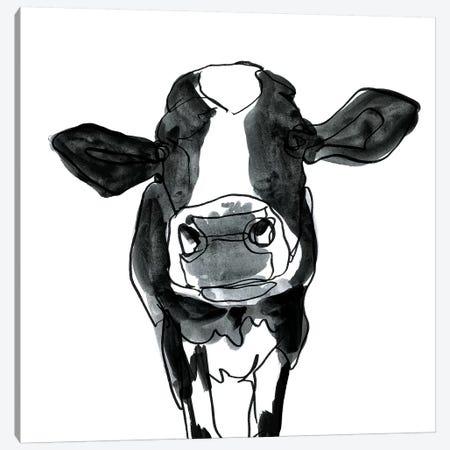 Cow Contour III Canvas Print #VBO416} by Victoria Borges Art Print