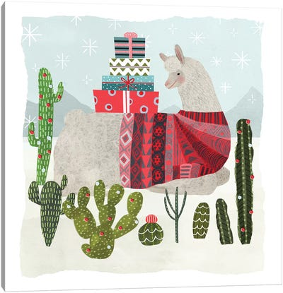 Holiday Llama III Canvas Art Print
