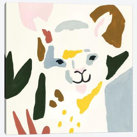 Llama Moderne I Canvas Print #VBO430} by Victoria Borges Canvas Art