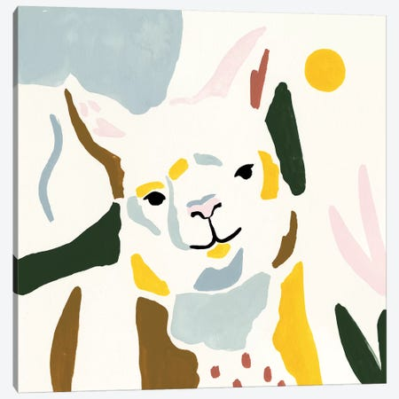 Llama Moderne II Canvas Print #VBO431} by Victoria Borges Canvas Artwork