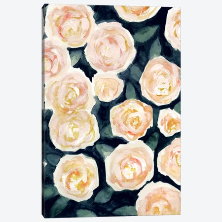 Peach Petals I Canvas Print #VBO441} by Victoria Borges Canvas Art Print