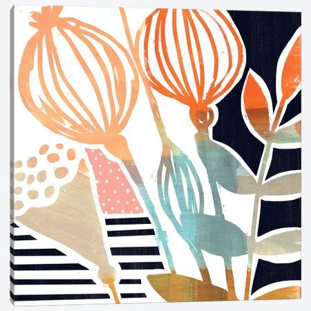 Poppy Pods I 3-Piece Canvas #VBO443} by Victoria Borges Art Print