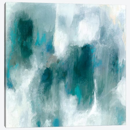 Teal Tempest I Canvas Print #VBO460} by Victoria Borges Canvas Print