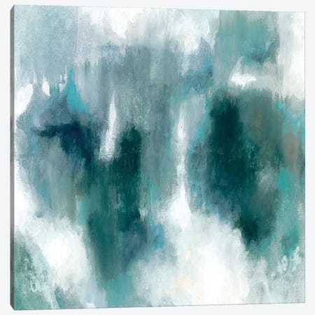 Teal Tempest II Canvas Print #VBO461} by Victoria Borges Canvas Art Print
