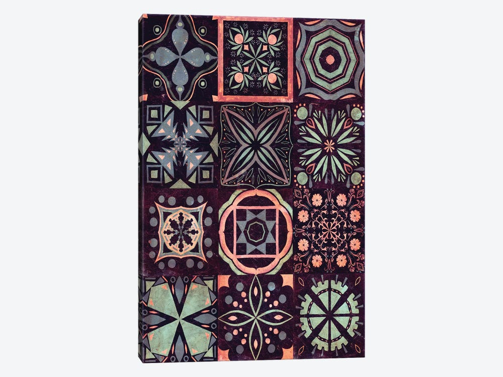 Kaleidoscope Tile II by Victoria Borges 1-piece Canvas Art Print