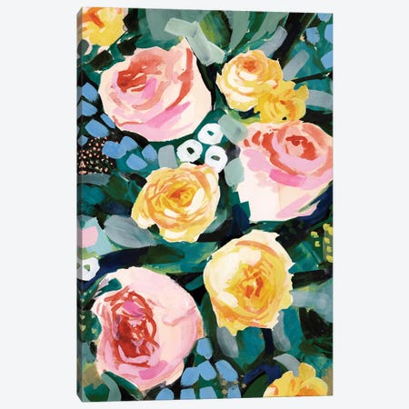 Flower Jumble II Canvas Print #VBO470} by Victoria Borges Canvas Artwork