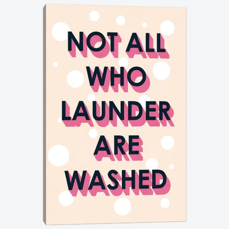 Laundry Typography I Canvas Print #VBO477} by Victoria Borges Canvas Art Print