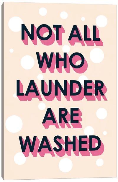 Laundry Typography I Canvas Art Print