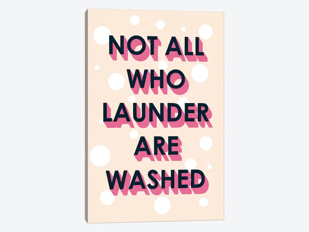 Laundry Typography I by Victoria Borges 1-piece Canvas Artwork