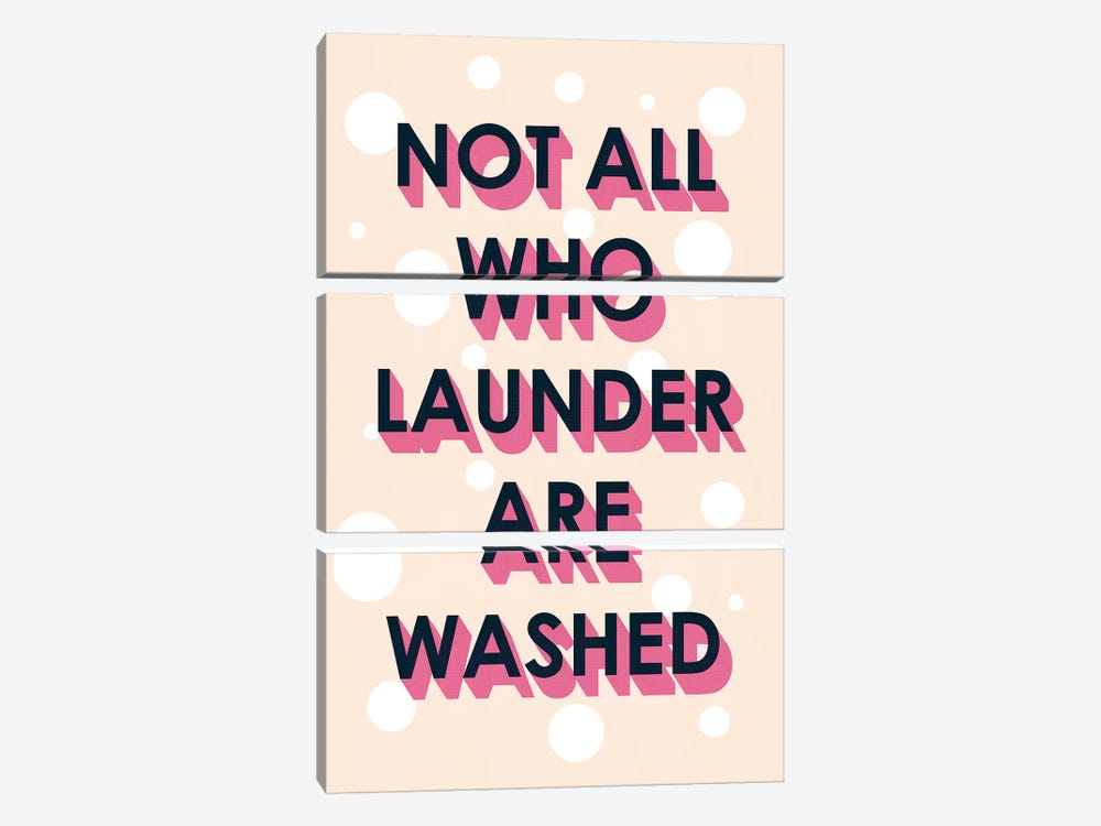Laundry Typography I by Victoria Borges 3-piece Canvas Art