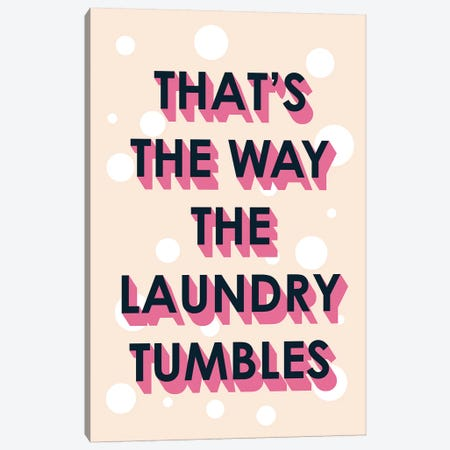 Laundry Typography II Canvas Print #VBO478} by Victoria Borges Canvas Artwork