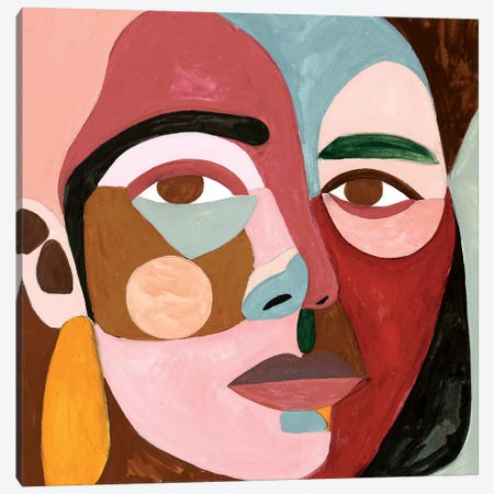 Geo Face II Canvas Print #VBO480} by Victoria Borges Canvas Art Print