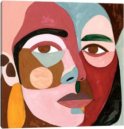 Geo Face II Canvas Art Print