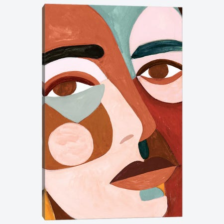 Geo Face III Canvas Print #VBO481} by Victoria Borges Canvas Print