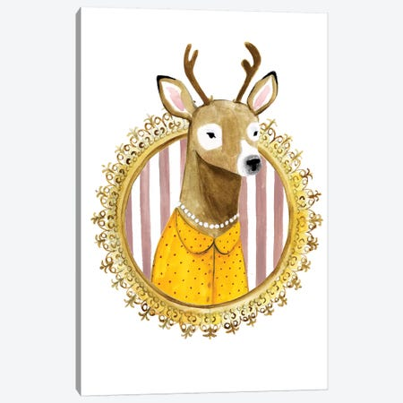 Spiffy Animals I Canvas Print #VBO485} by Victoria Borges Canvas Art