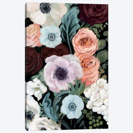 Floral Nocturne II Canvas Print #VBO514} by Victoria Borges Canvas Art