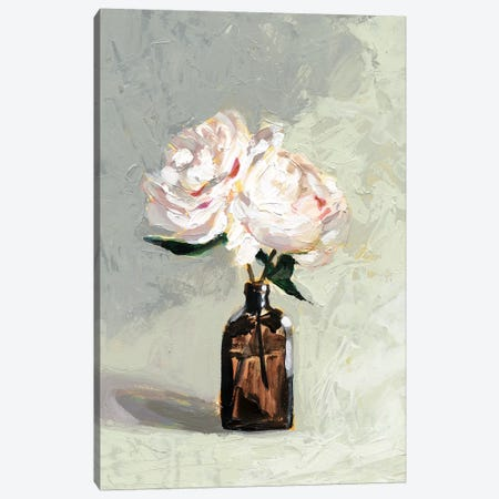 Amber Bottle Flowers II Canvas Print #VBO518} by Victoria Borges Art Print