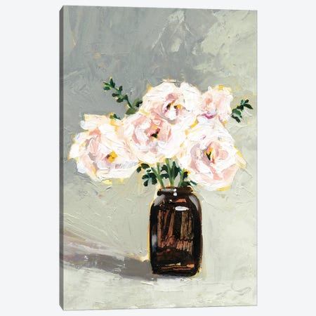 Amber Bottle Flowers III Canvas Print #VBO519} by Victoria Borges Canvas Art Print