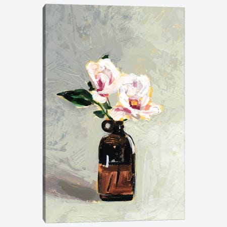 Amber Bottle Flowers IV Canvas Print #VBO520} by Victoria Borges Canvas Art