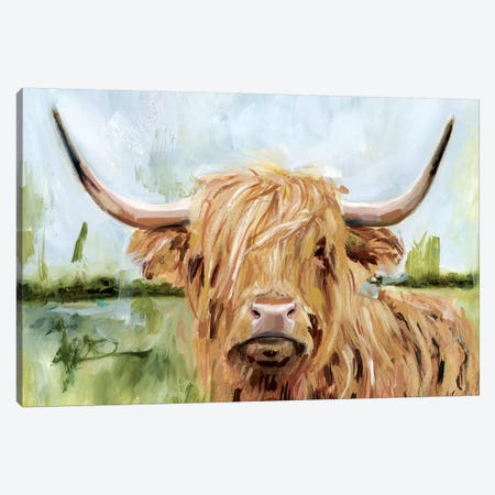 Highland Grazer I Canvas Print #VBO523} by Victoria Borges Canvas Wall Art