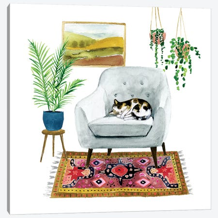 Homebody II Canvas Print #VBO534} by Victoria Borges Canvas Artwork