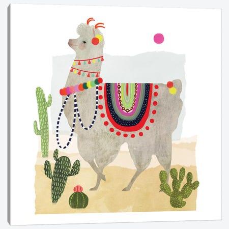 Llamarama I Canvas Print #VBO53} by Victoria Borges Canvas Artwork