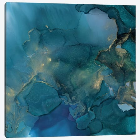 Aquamarine Drift I 3-Piece Canvas #VBO552} by Victoria Borges Canvas Art Print