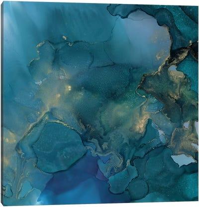 Aquamarine Drift I Canvas Art Print