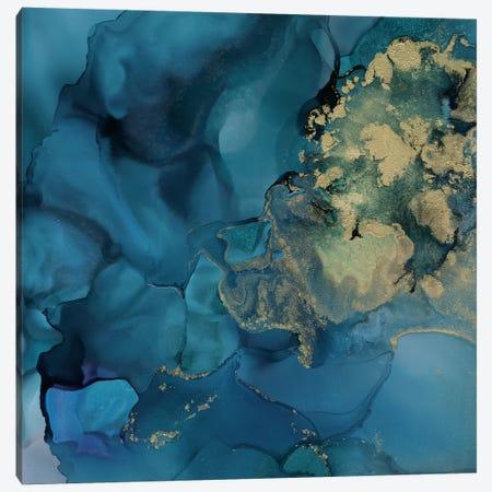 Aquamarine Drift II Canvas Print #VBO553} by Victoria Borges Canvas Print