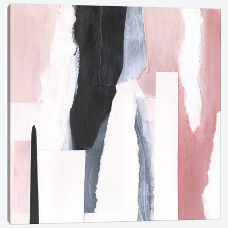 Blush & Onyx I Canvas Print #VBO556} by Victoria Borges Canvas Artwork