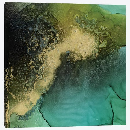 Emerald Topo I Canvas Print #VBO574} by Victoria Borges Canvas Artwork