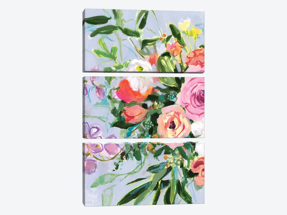 Mottled Flora I by Victoria Borges 3-piece Canvas Artwork