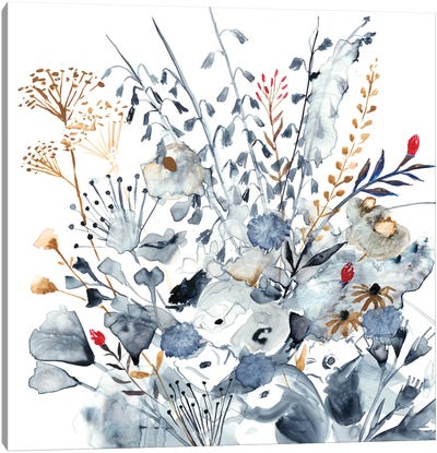Indigo & Ochre I Canvas Art Print