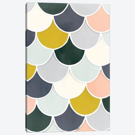Pastel Scallops I Canvas Print #VBO602} by Victoria Borges Canvas Print