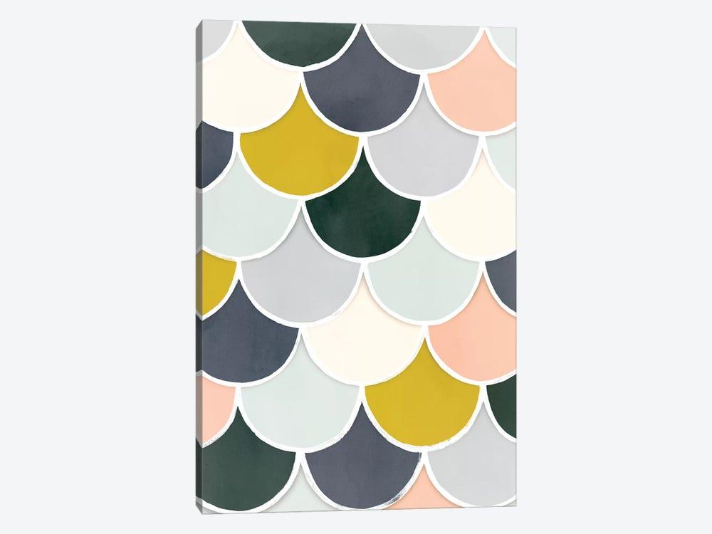 Pastel Scallops I by Victoria Borges 1-piece Art Print