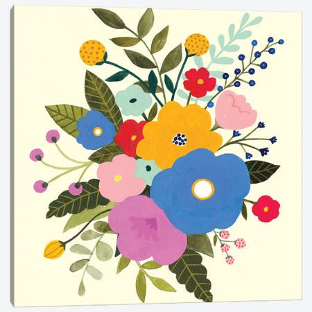 Primary Blooms II 3-Piece Canvas #VBO611} by Victoria Borges Canvas Art