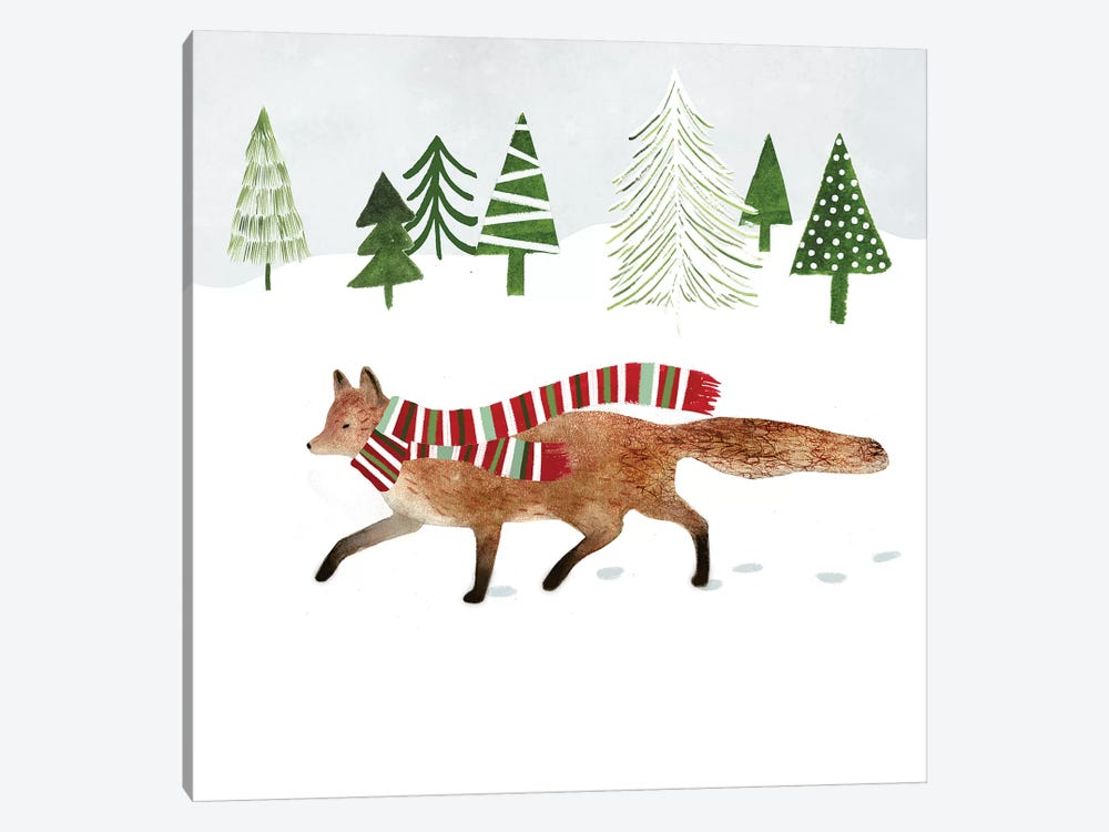 Woodland Christmas II by Victoria Borges 1-piece Canvas Print