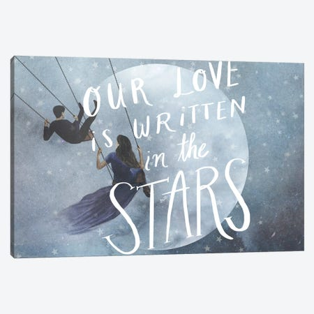 Celestial Love Collection A 3-Piece Canvas #VBO644} by Victoria Borges Canvas Art