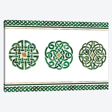 Celtic Knot Collection A Canvas Print #VBO647} by Victoria Borges Canvas Art