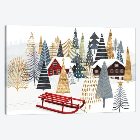 Christmas Chalet Collection A Canvas Print #VBO660} by Victoria Borges Canvas Print