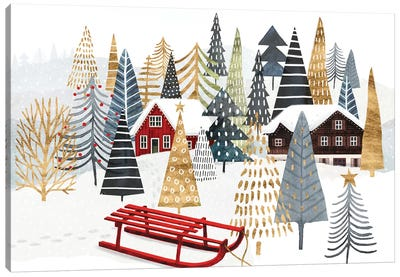 Christmas Chalet Collection A Canvas Art Print