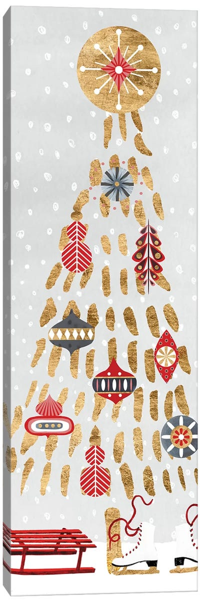 Christmas Chalet Collection B Canvas Art Print