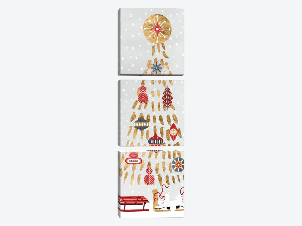 Christmas Chalet Collection B by Victoria Borges 3-piece Canvas Wall Art