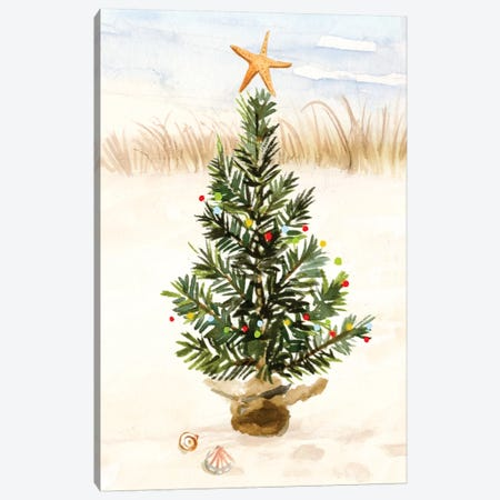 Christmas Coast Collection B Canvas Print #VBO668} by Victoria Borges Art Print