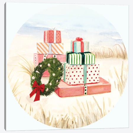 Christmas Coast Collection C 3-Piece Canvas #VBO669} by Victoria Borges Canvas Print