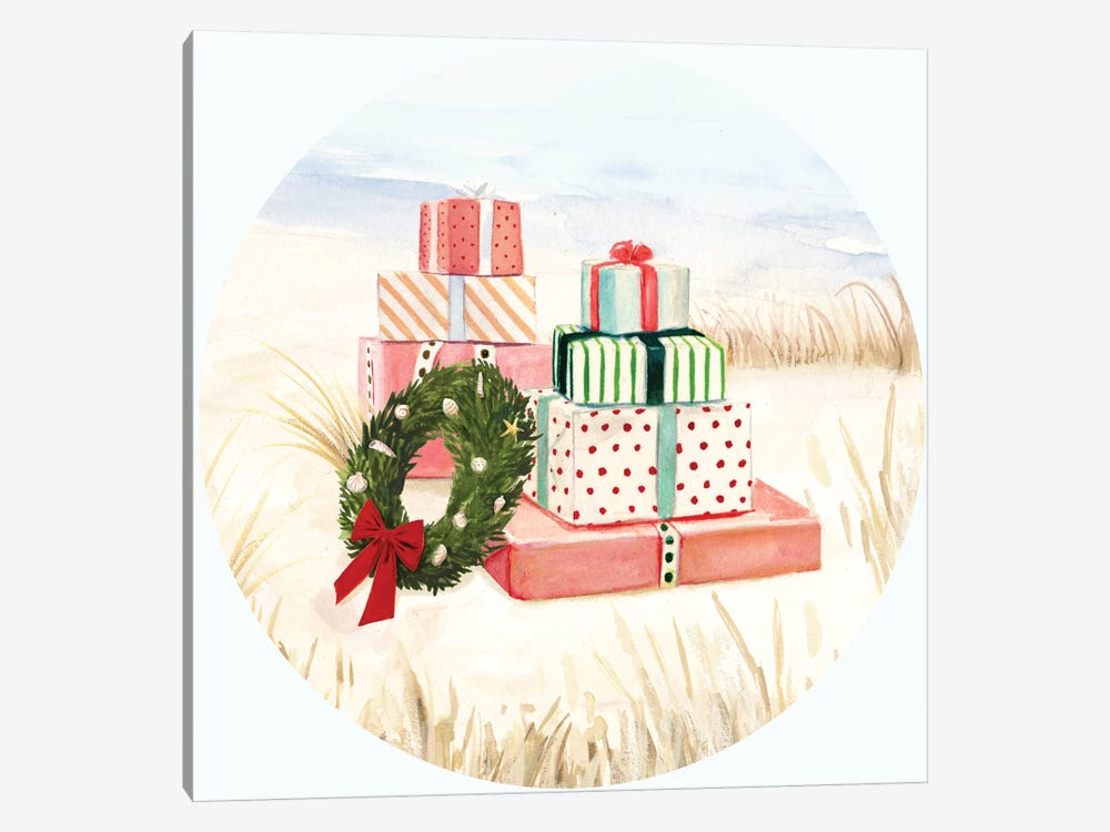 Christmas Coast Collection C by Victoria Borges 1-piece Canvas Wall Art
