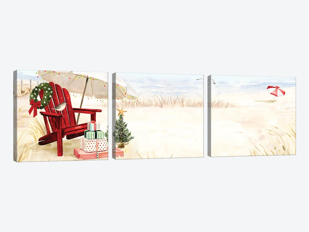 Christmas Coast Collection D by Victoria Borges 3-piece Canvas Wall Art
