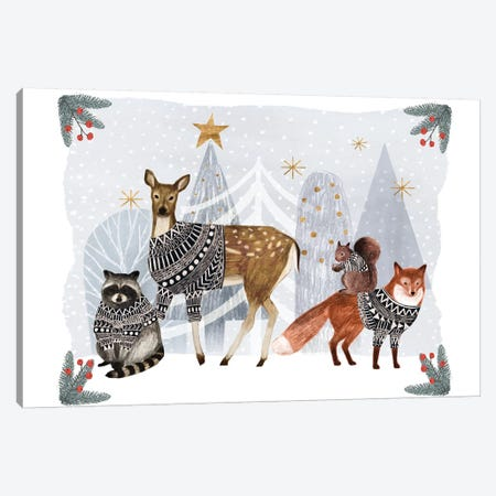 Cozy Christmas Collection A Canvas Print #VBO679} by Victoria Borges Canvas Artwork