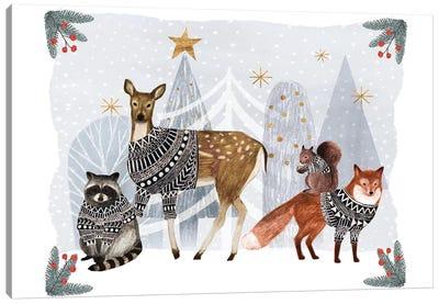 Cozy Christmas Collection A Canvas Art Print